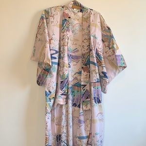 made in Japan Pink Kimono ;no belt. 56 in length